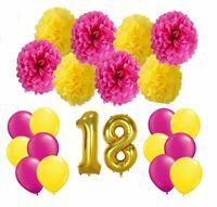 Geburstag - Party Deko Set - Zahlenballon - Happy Birthday - Geburtstagsdeko NEU