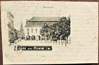 AK Gruss aus Hamm in Westfalen, Rathskeller, Bahnpost gel. 1898