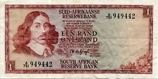 (1968) South Africa 1 Rand VF DE JONGH sig. RARE P-110