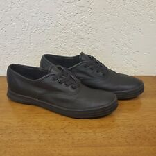 Women's Keds WH45780M Champion Original Leather Sneaker Shoe Black - Size 8
