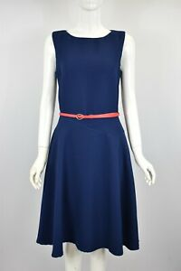 Women's Girls A-Line Fit & Flare Party Skater Swing Midi Dress Blue Yellow Red