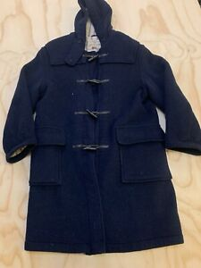 GLOVERALL DUFFLE MEN SIZE 40 TOGGLE HOODED DUFFLE COAT MADE IN ENGLAND EUC