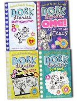 Dork Diaries Collection 4 Books Rachel Renee Russell-Skating Sensation,TV Star