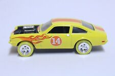 JOHNNY LIGHTNING 1973 CHEVY VEGA GT VERY NICE YELLOW W/ FLAMES & YELLOW WHEELS