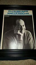 Henry Mancini Norma De La Guadalajara Rare Original Promo Poster Ad Framed!