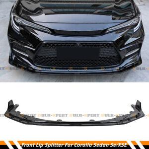 For 2020-2021 Toyota Corolla Sedan SE SXE Gloss Black Front Bumper Lip Splitter