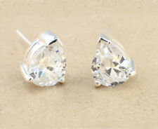 Wholesale Price, 925 Sterling Silver and Cubic Zirconia Teardrop Stud Earrings
