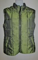 NZ Designer VERGE Green Sleeveless Quilted Puffer Jacket Size Small S