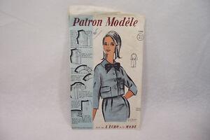 Ancien PATRON Modèle 1960 ENSEMBLE n°75089 Taille 38-40-42 L'ECHO de la MODE