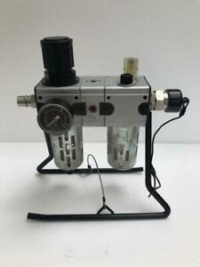 FILTER REGULATOR LUBRICATOR FRL SET WITH STAND