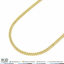 14K Real Yellow Gold 1.8mm Franco Chain Lobster Clasp 26""