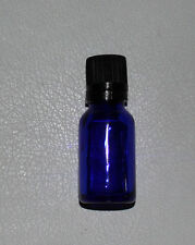 Brand New 15 ML Blue Glass Bottle Vial w Orifice Reducer & Black Euro Style Cap