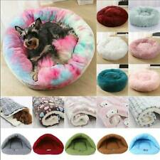 Pet Shag Calming Fluffy Pet Bed Dogs Puppy Cat Fur Donut Cushion Mat Sleeping