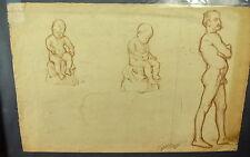 Dessin académie de nu Ernest Pierre GUÉRIN modèl vivant Drawing Academy& naked