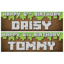 2 Personalised Birthday Banners 800 x 297mm