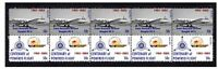 TAA AIRLINES CENTENARY OF FLIGHT STRIP OF 10 MINT VIGNETTE STAMPS, DOUGLAS DC-4