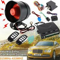 One-Way Car Auto Vehicle Alarm & Keyless Entry Siren Security System