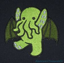 Embroidered Adorable Green Baby Cthulu Kid Monster Patch Iron On Sew On USA