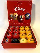 Disney Aramith Belgian Billiard Balls Pool Set Collection Mickey Minnie Rare
