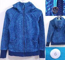 Lululemon Scuba Blue Water Wave Zipper Sweater Size 6 Small Hoodie
