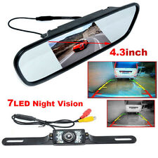 "4.3"" Car TFT LCD Monitor Mirror&Wireless Reverse Rear View Backup Camera Set Hot"