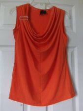 Nue Oprion Petites casual top, PL, Orange color, Polyester/Spandax blend