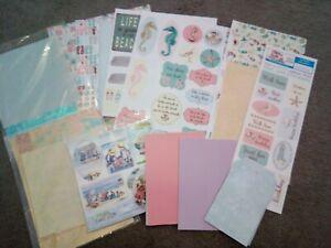 Travel Seaside Scrapbook, Card Making.  Summer Holiday Bundle. Pre-owned