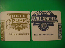 Beer Coaster: BRECKENRIDGE Brewery Avalanche, Hefe Proper Ale ~ Denver, Colorado