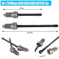 2PCS Alloy Metal Front Axle CVD Drive Shafts Set for 1/10 TRX-4 RC Car Parts