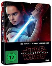 STAR WARS DIE LETZTEN JEDI 2D + 3D BLU-RAY LIMITED STEELBOOK EDITION DEUTSCH