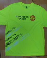 MANCHESTER UNITED FOOTBALL JERSEY SOCCER  FLUORESCENT  SIZE:  LARGE