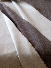 """cachemire Plaid double-face """" marron/crème """" 135x185cm fabriqué en Allemagne"""