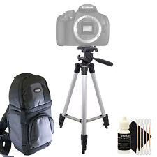 Tall Tripod + DSLR Backpack + Cleaning Kit for Canon EOS 1300D 1200D