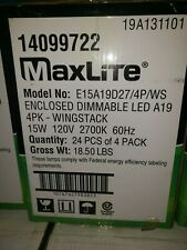 96x LED Dimmable 100 Watt Equivalent  Light Bulb Maxlite A type 2700k Wholesale