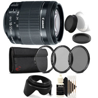 Canon EF-S 18-55mm f/3.5-5.6 IS STM Lens with Accessories For Canon DSLR Cameras