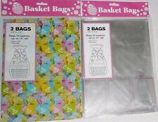 """EASTER  BASKET BAGS  2 Pack  22"""" x 30"""" FITS BASKETS UP TO 14"""" TALL"""