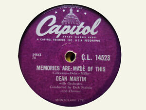 DEAN MARTIN - Memories Are Made Of This / Change Of Heart 78 rpm disc (A++)