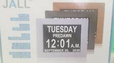 """Jall Digital Calendar Dementia or Memory Loss Day Clock 8"""" Large Screen Display"""