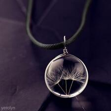 Fashion Jewelry Transparent Crystal Ball Glass Dried Dandelion Accessories Women