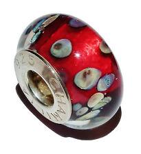"""USATO autentico Chamilia argento e murano glass """"ROCKY raku"""" cordone - # 1"""