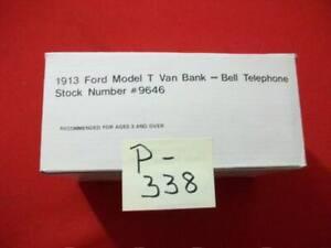 VINTAGE COLLECTIBLE ERTL AT&T 1913 FORD MODEL T VAN REPLICA # 9646 LOCKABLE BANK