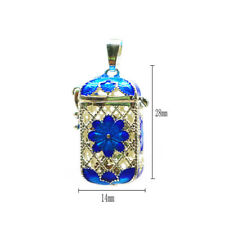 Essential Oil Aroma Perfume Pendant Rectangle Bottle Charm Copper Locket