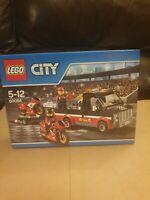 LEGO City Vehicles Racing Bike Transporter Playset - New - LEGO 60084