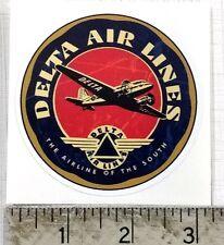 """Vintage Delta Air Lines sticker decal 3"""" diameter"""