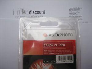 AGFA Photo CLI-8bk Ovp Neuf / Pixma IP 4200 / Plus Encre Contenu 15,5ml