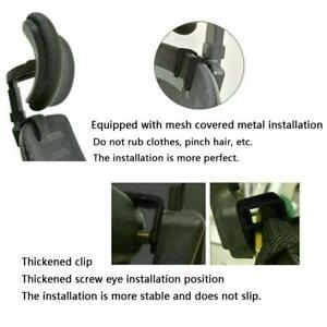Chair Headrest Office Seat Adjustable Swivel Lifting Neck Spine Support P3C4