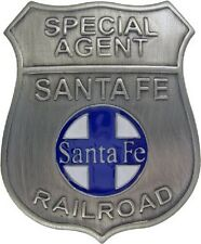 Obsolete Old West Badge Special Agent Sante Fe Railroad