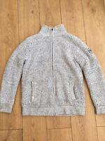 Quicksilver Mens Sherpa Lined Zip Up Cardigan Grey Small RRP £115