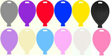BALLOON SHAPE PLASTIC WEIGHTS 12 COLOURS TO CHOOSE FOR HELIUM & LATEX BALLOONS