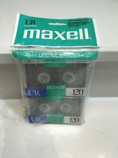 NEW Maxell 2-Pack UR 120 Audio Cassette Tape Voice Grade Normal Bias 120 Minutes
